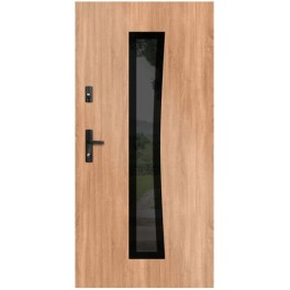 Drzwi zewnętrzne stalowe WIKĘD GLASS DESIGN GD02A