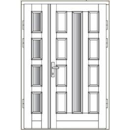 Drzwi zewnętrzne CAL - Annapurna - z dostawką otwieraną przeszkloną