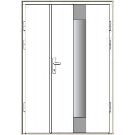 Drzwi zewnętrzne CAL - Zawisza - z dostawką otwieraną pełną
