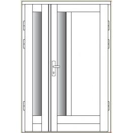 Drzwi zewnętrzne CAL - Czantoria - z dostawką otwieraną przeszkloną