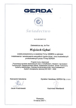 gerda-gebus-certyfikat