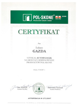 polskone-gazda-certyfikat