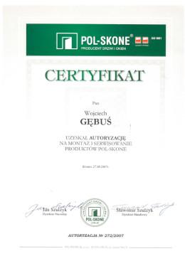 polskone-gebus-certyfikat