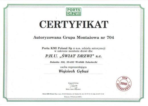 porta-gebus-certyfikat